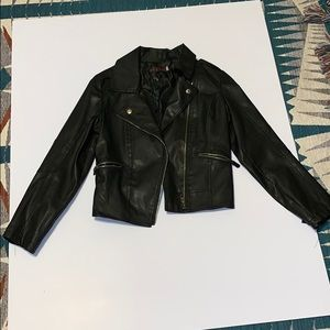 Jackets & Blazers - Leather biker jacket